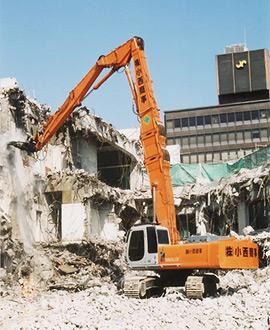 重機による構築物解体