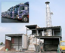 自社リサイクルセンター焼却炉